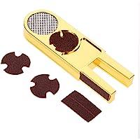 Taco de Punta Piscina Consejos Cue Forma de U, 3 en 1 Multifuncional en Forma de U Taco de Billar Trimmer Shaper Tapper Reparacion Herramienta Accesorio para Billar Snooker o Billar Consejos
