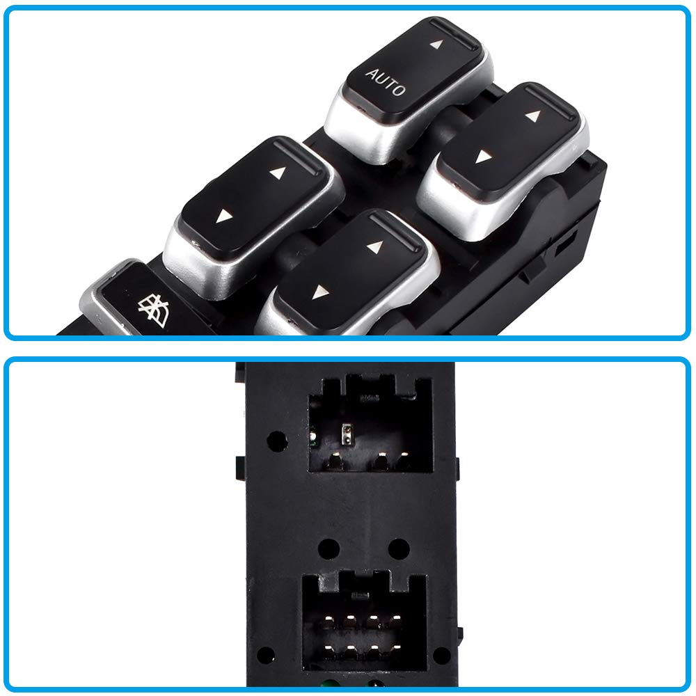 5W1Z-14529-BA Driver Side Master Power Window Switch for Lincoln Town Car 2003 2004 2005 2006 2007 2008