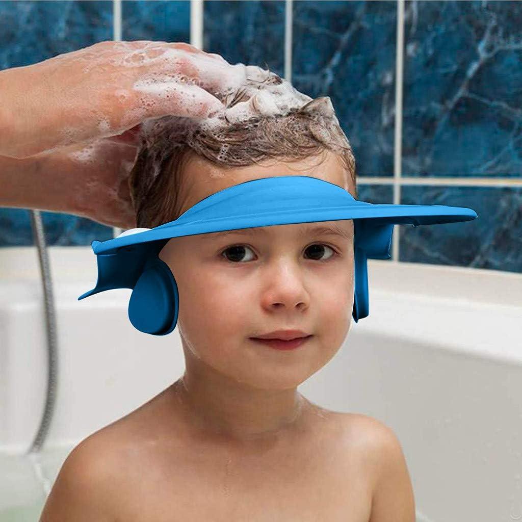 Haare waschen zum /Überst/ülpen Haarwaschhilfe clacce Kinder Duschkappe Shampoo Schutz f/ür Babys Augenschutz und Ohrenschutz 100/% wasserdicht I weiche Silikonhaut Kinder Duschkappe