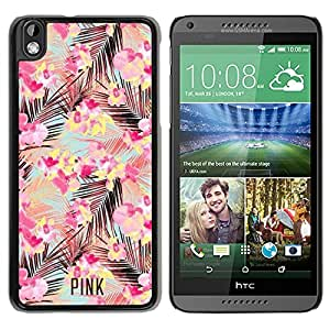 Beautiful Designed Victoria's Secret Love Pink Cover Case For HTC Desire 816 in Black Phone Case 74