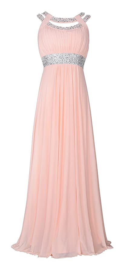 Vintage Evening Dresses and Formal Evening Gowns conail Coco Women Ruched Waist Rhinestone Casual Formal Long Wedding Bridesmaid Dress 6002  AT vintagedancer.com