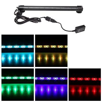 Anself LED burbuja acuario luz pecera luz LED Bar sumergible 120 Grado RGB 15 colores IP68 mando a distancia: Amazon.es: Hogar
