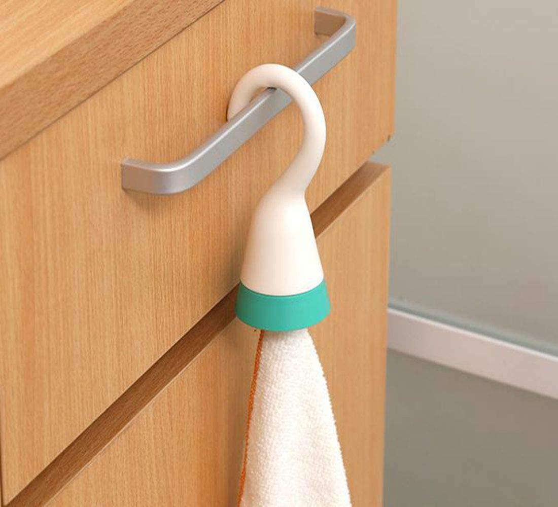 Qiajie 2Pcs portabicchieri portatile porta asciugamani con gancio per cucina bagno