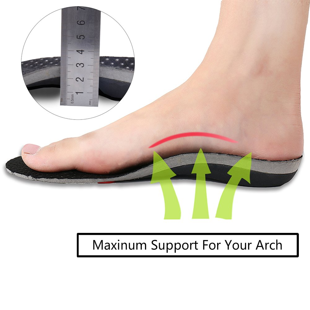 WinnBase Orthotic Insoles for Flat Feet, Arch Support Shoe Inserts for Plantar Fasciitis by WB Winn Base (Image #2)