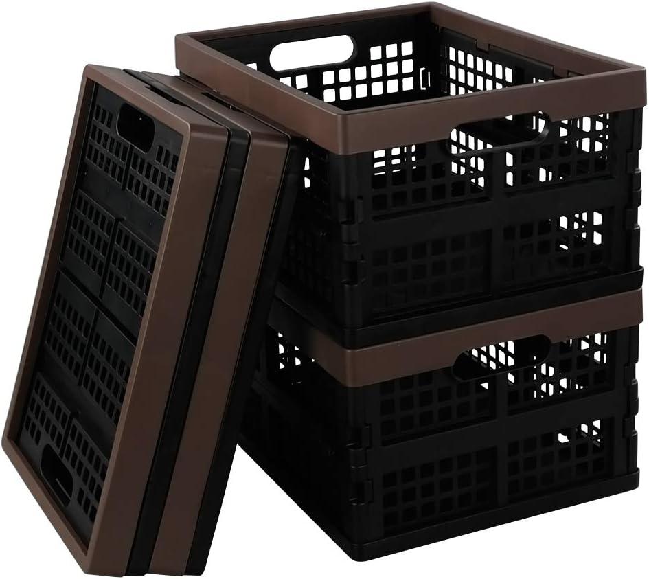 Joycky Cesta de Plástico Plegable, Paquete de 4 Caja Plegable: Amazon.es: Hogar