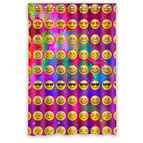 Custom Emojis Polyester Fabric Window Curtain 50