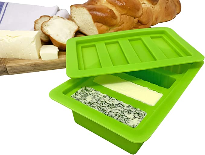 """8.5/"""" x 8.5/"""" Herbal Chef Silicone Tray with Lid Green Eggs Canabutter Molds"""