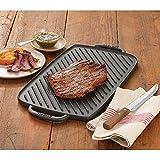 Emeril Lagasse Pre-Seasoned Cast Iron Double Burner Reversible Grill/Griddle