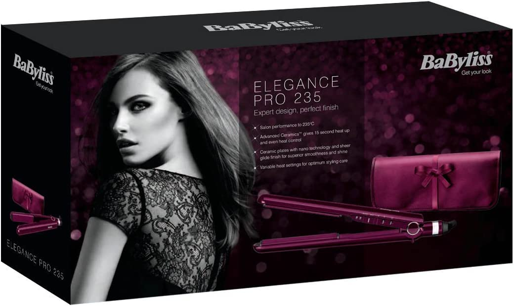 BaByliss Elegance Hair Straightener with 3 temperature