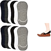 WEBBOON Unisex Cotton Socks(White, Black and Grey) ANKLE LENGHT