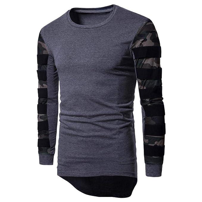 Betrothales Camisa De Sudaderas Hombre Camuflaje Camisa De Los Otoño Invierno De Básica Camisa Moda De Otoño Asimétrica Asimétrica: Amazon.es: Ropa y ...