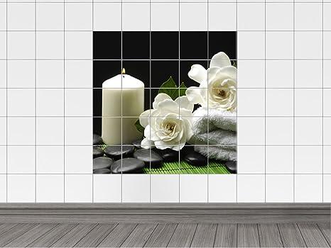 Per piastrelle adesivi per piastrelle per il bagno candele fiori