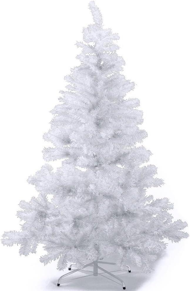 120//180cm Sapin de Noël Artificiel en PVC Support en Métal Détachable+Boule Noël