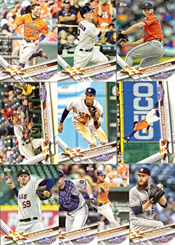 2017 Topps Opening Day Houston Astros Baseball Card Team Set - 10 Card Set - Includes Jose Altuve, Carlos Correa, Alex Bregman Rookie Card, George Springer, Dallas Keuchel, and more!