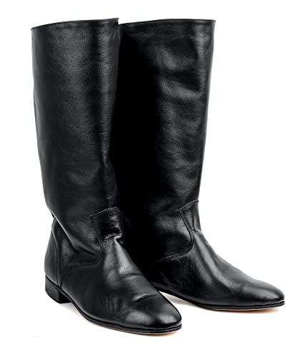 Men's Swing Dance Clothing, Vintage Dance Clothes Russian leather boots men dance shoes Kozaken $129.99 AT vintagedancer.com