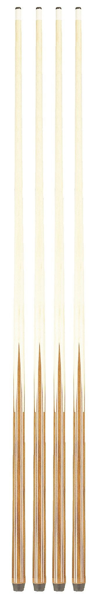 Players Set of House Pool Cue Sticks - Professional Quality For Commercial Or Residential Use (4 Cues)