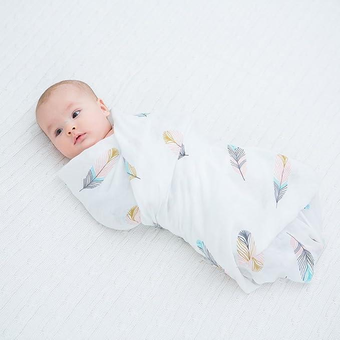 manta de bamb/ú supersuave y transpirable 47 x 47 pulgadas ideal como regalo de baby shower Yorgewd Manta de muselina para beb/é para ni/ños y ni/ñas