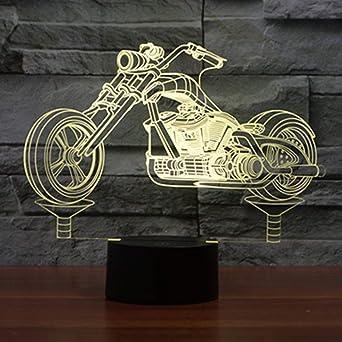 Déco Lampe Control Anniversaire Led Moto Change Powered 7 Touch Lumières Lampes 3d Enfants Art Couleurs Veilleuse Usb Cadeau Décoration m0N8nwv