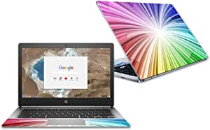 """MightySkins Skin Compatible with HP Chromebook 13 G1 13.3"""" (2018) - Rainbow Explosion 