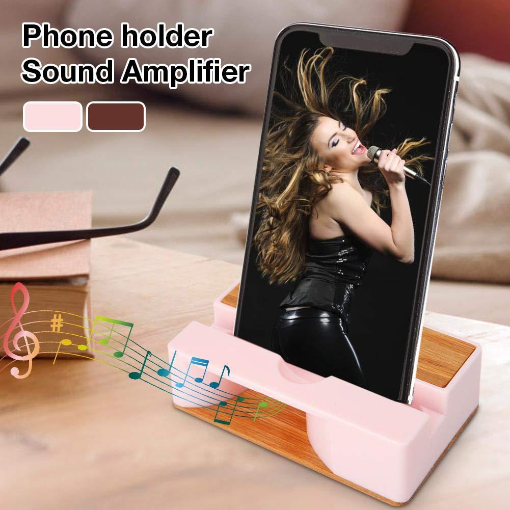 happygirr Soporte para tel/éfono m/óvil Amplificador de amplificaci/ón de Sonido f/ísico Amplificador de Sonido para tel/éfono Soporte para tel/éfono Universal Soporte Soporte para Altavoz de Madera