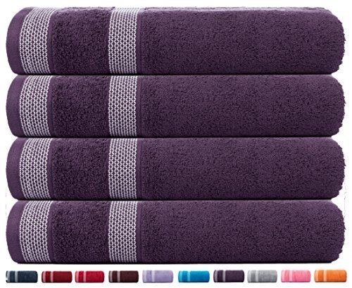 CASA COPENHAGEN Solitaire Cotton 4 Pack 30 inches by 60 inch