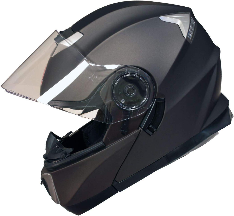 Qtech Casque Modulable Pare Soleil Interne Moto Scooter 55-56cm Bronze S