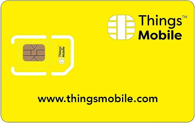 Tarjeta SIM Things Mobile de Prepago para IOT y M2M con Cobertura ...