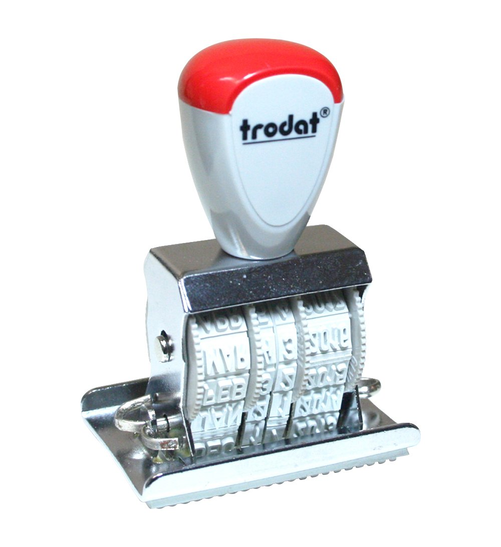Trodat 120 2210/L1 Manual Die Plate Date Stamp withRECEIVED, 12 Year, 4mm Character Size, English, Format: DEC 14 2025