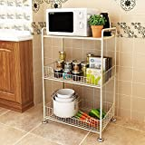 3-storey kitchen racks: thickened microwave oven rack, multi-function storage, multi-color optional ( Color : A )