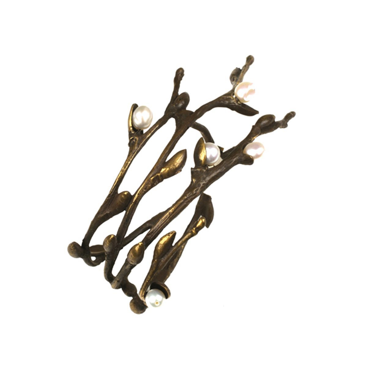 ''Pussy Willow'' Napkin Rings (Set of 4) by Michael Michaud for Silver Seasons Table Art