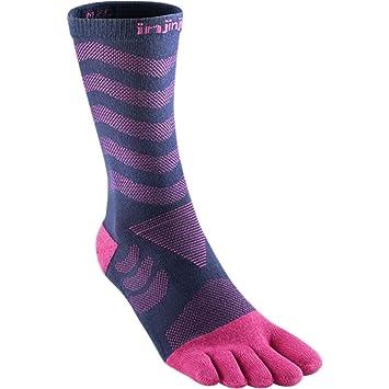 Injinji Socks Performance Ultra Run Crew Mujer Calcetines Para Correr Lila - Morado, XS-