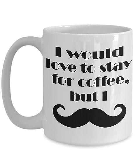 amazon com moustache coffee mug funny mustache cup i would love