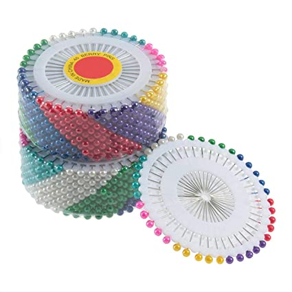 anyilon 480Pcs Multi Round Pearl Head Dressmaking Pins Weddings Corsage Florists Sewing Tools Women Mini Ball Handmade Crafts Accessory
