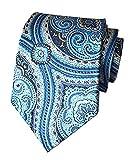 Secdtie Men's Blue Tie Floral