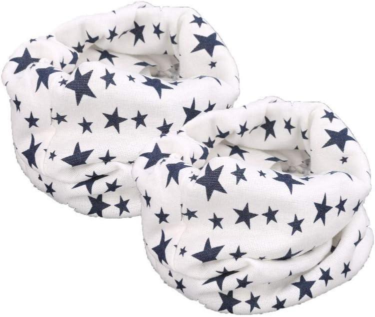 Whatyiu 2Pcs Unisex Baby Toddler Kids Scarf Winter Warm Cotton Wrap Shawl Scarf Neckwarmer