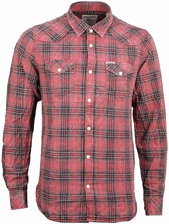 Camisa para hombre a cuadros roja s61028 – Garcia Jeans rojo ...