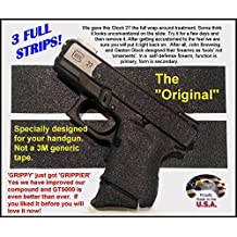 """GT-5000 (3 strips) Grip Tape for guns, cell phones, cameras, knives, tools - makes anything """"Grippy""""."""