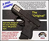 "GT-5000 (3 strips) Grip Tape for guns, cell phones, cameras, knives, tools - makes anything ""Grippy""."