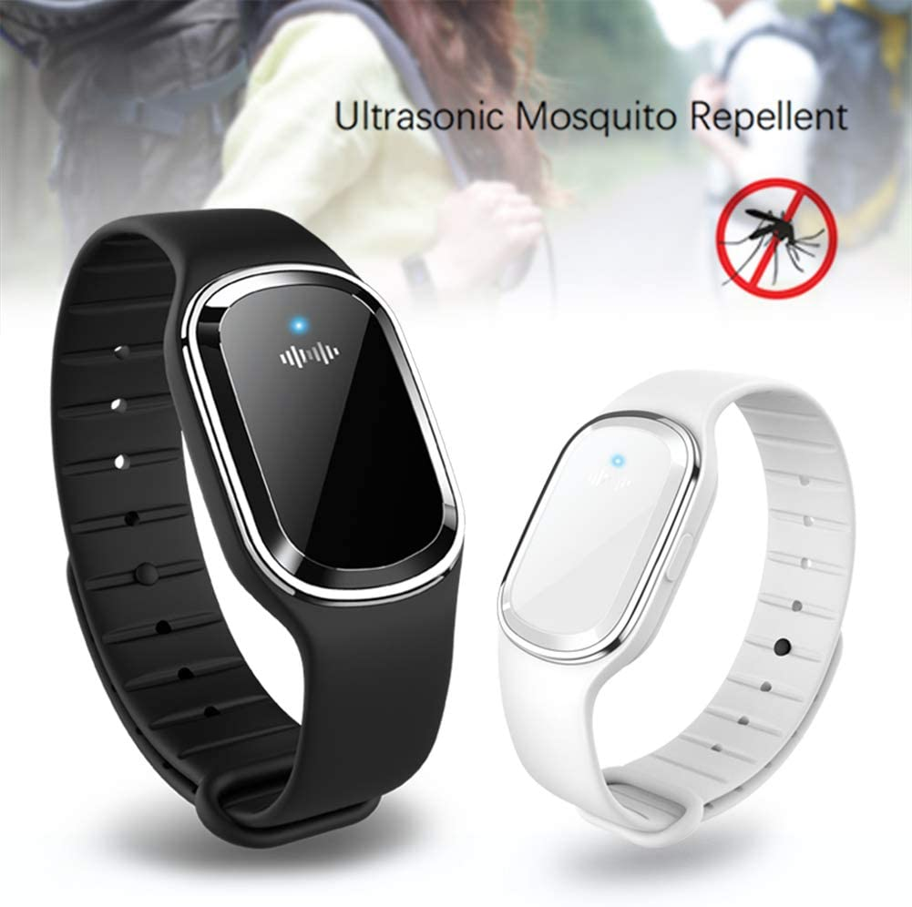 Perfect for Indoor Outdoor Protection LAMF 2 Pack Ultrasonic Mosquito Repellent Bracelet for Kids Adults Electronic Anti Mosquito Bracelet Wristband with USB Charging Cable Non-Toxic /& Waterproof