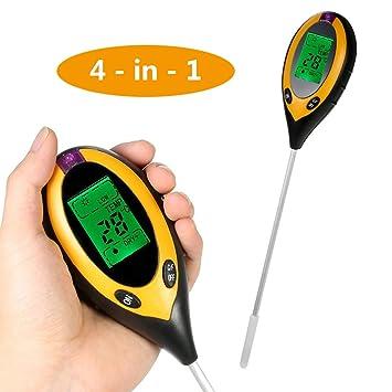 Messung Und Analyse Instrumente 4in1 Anlage Erde Boden Ph Feuchtigkeit Licht Boden Meter Thermometer Temperatur Tester Sonnenlicht Tester