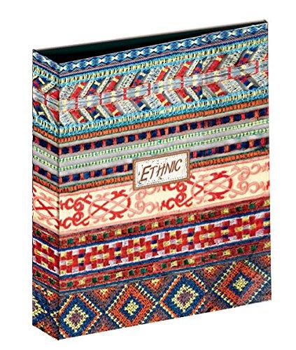 Carpeta Archivador Anillas Katacrak Ethnic 116017, Folio 4 Anillas (Naranja)
