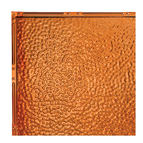 Great Lakes Tin Chicago Copper Nail-Up Ceiling Tiles - 12in x 12in Sample - Choose from 11 Perfect for DIY and Home Renovation Projects - Easy to Install