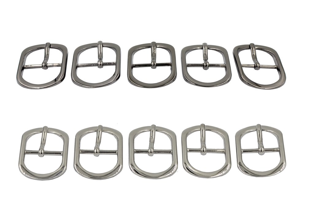 DGOL 10pcs 1 Tri-Glide Slide Buckle Zinc Alloy Center Bar Tri Glide Webbing Strap Purse Roller Pin Buckles Silver Gunmetal 5pcs Each DGOL-AT35