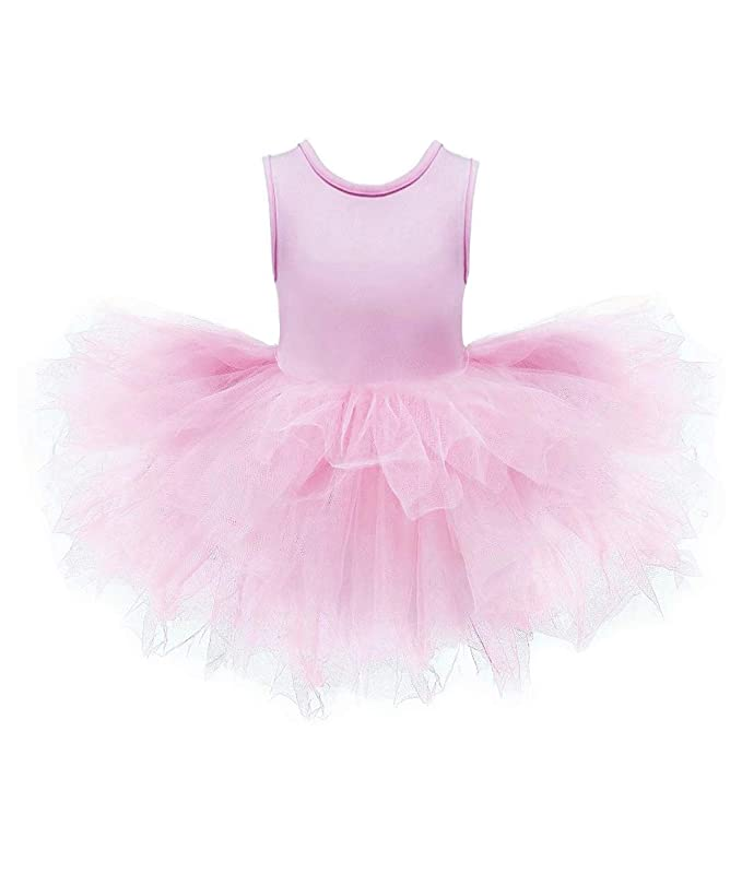 800ced73a6 Amazon.com : DHASIUE Girls Tutu Dress Toddler Cute Leotard with Tutu Skirt  for Dance, Gymnastics and Ballet : Clothing