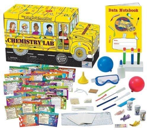The Magic School Bus Chemistry Lab Educational Fun Kids Children Science Kit (Alphabet School Bus)