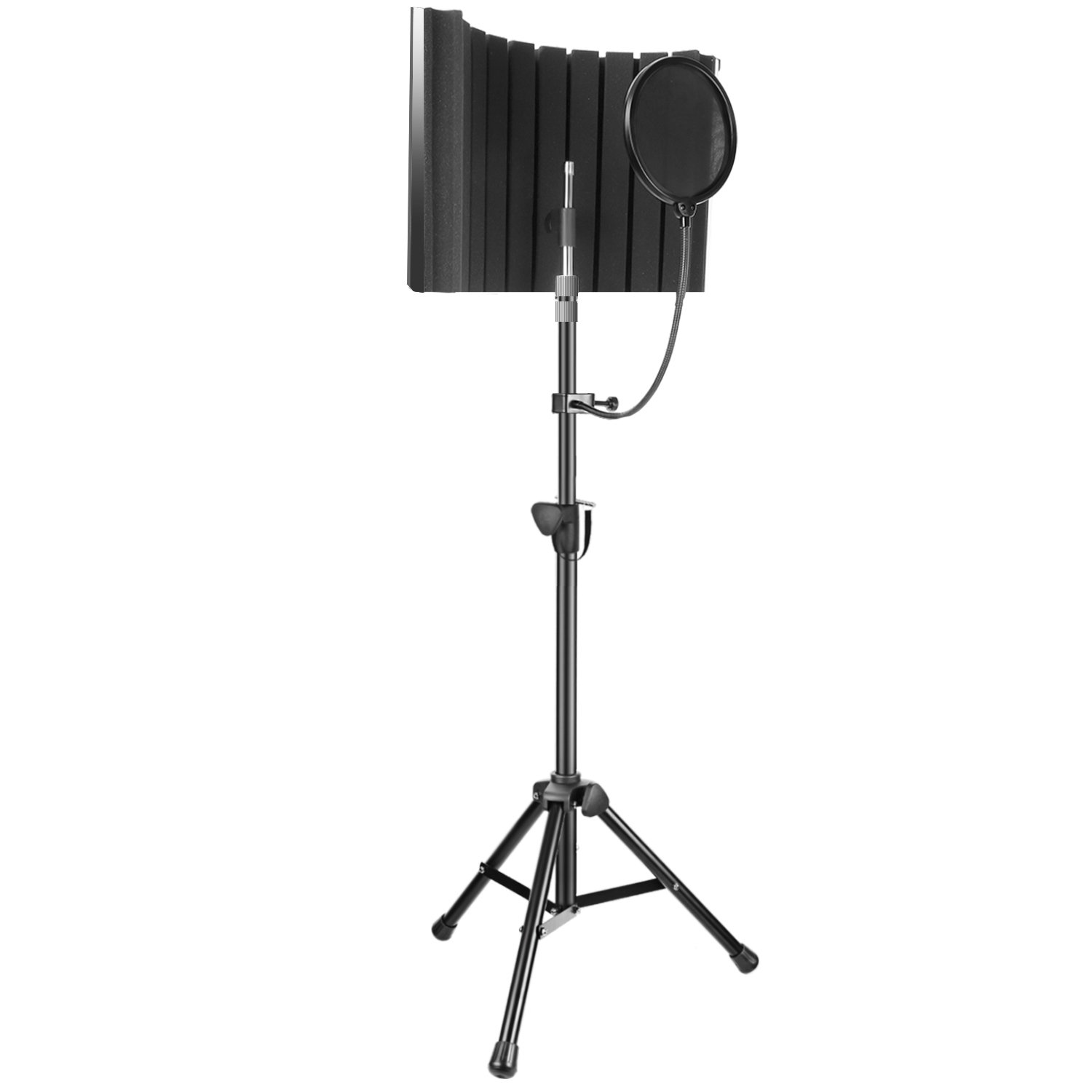 Neewer Professional Microphone Studio Recording Accessories Include: NW-5 Microphone Isolation Panel, Adjustable Wind Screen Bracket Stand and Pop Filter for Vocal Acoustic Recording and Podcasting 90090339