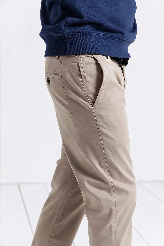 New Casual Pants Men Fashion Loose Straight Cotton Plus Size Pants Long Trousers,Sandy,29