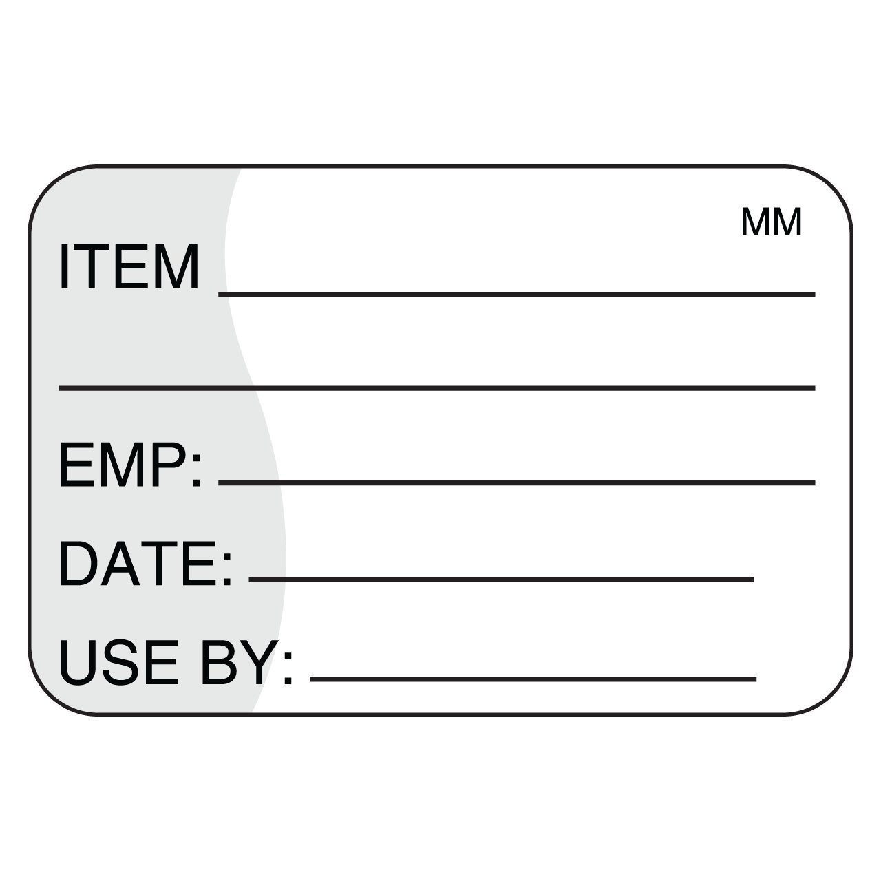 DayMark Removable Item/Date/Use-by Shelf-Life Label, 1'' x 1.5'' (Roll of 1000) by DayMark Safety Systems