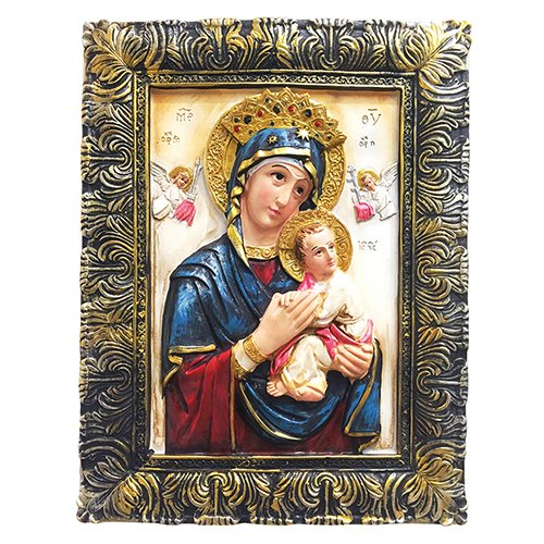 Del Perpetuo Socorro Our Lady of Perpetual Help Portrait Photo Picture Frame Mother of Perpetual Help Pendant (24 Inch) by Love's Gift Inc. (Image #1)