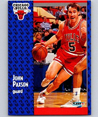 1991-92 Fleer Basketball #31 John Paxson Chicago Bulls Official NBA Trading Card From Fleer/Skybox